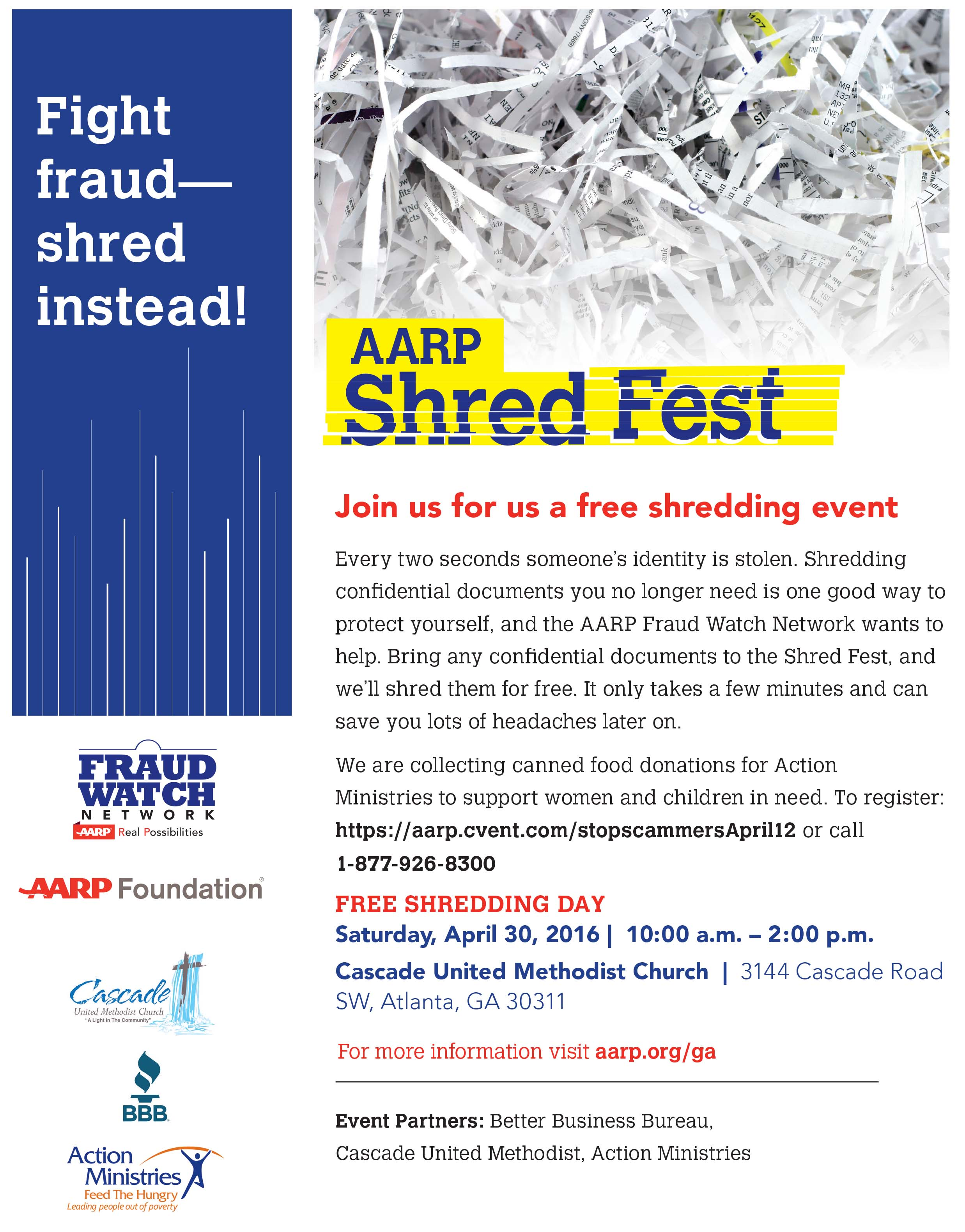 Join us for us a Free Shredding Event