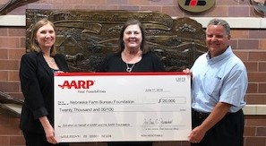 AARP Nebraska makes donation to support disaster recovery