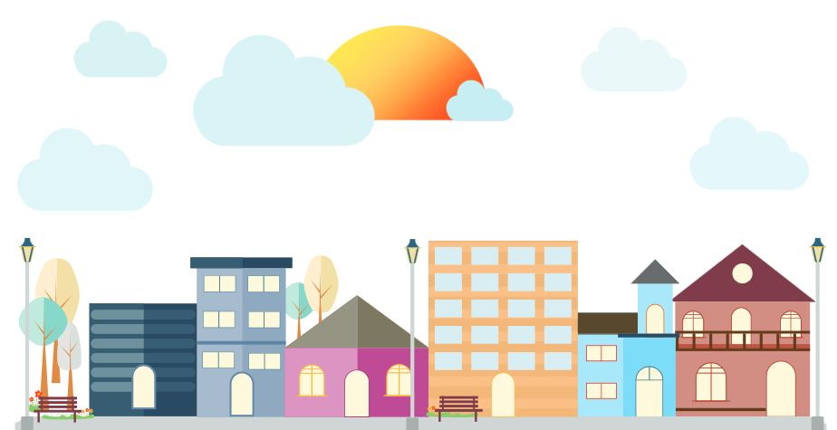 Livable communities graphic from PPT with clouds