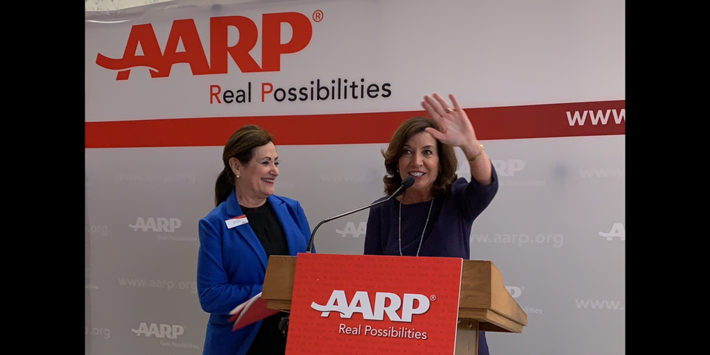 With Rx Prices Skyrocketing 4X Inflation, AARP NY Launches Campaign to Back State Legislative Package Protecting Consumers; Lt. Gov. Hochul Pledges to 'Reel In Exorbitant, Unconscionable' Prices