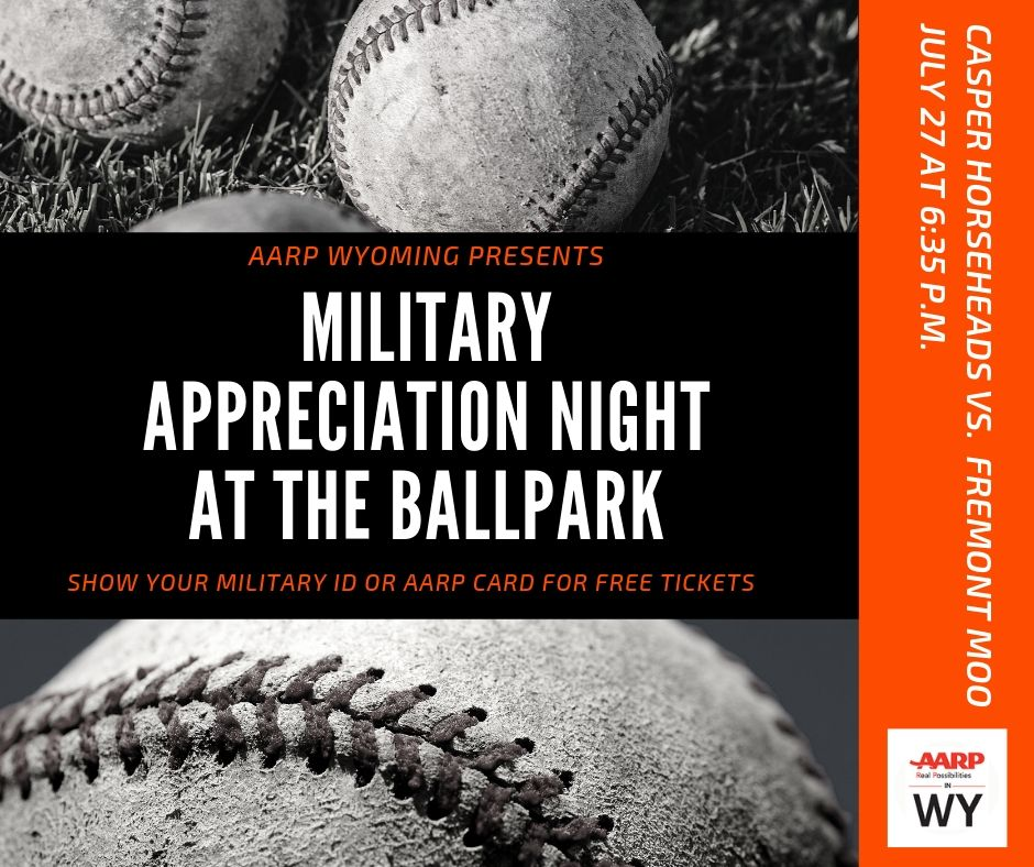 AARP Wyoming Hosts Military Appreciation Night At The Ballpark