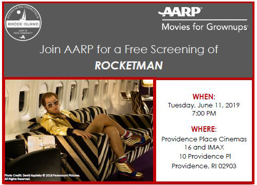 Rocketman:  A free Movies for Growups screening