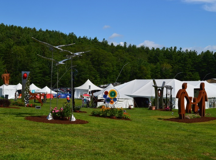 Cropped image of exhibits at NH Craftsmen's Fair