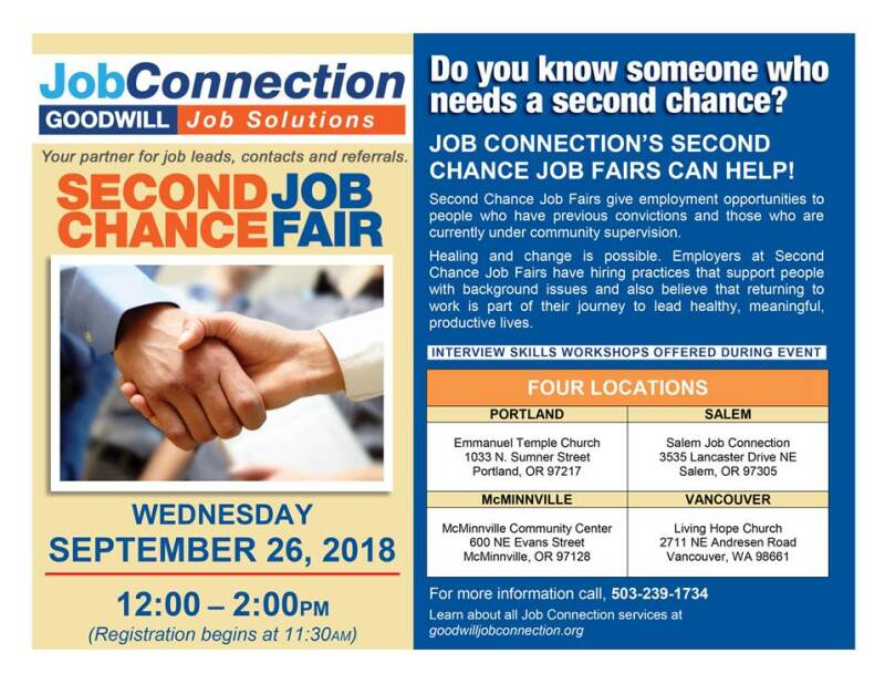 second chance job fair