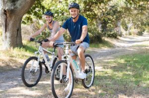 Couple cycling