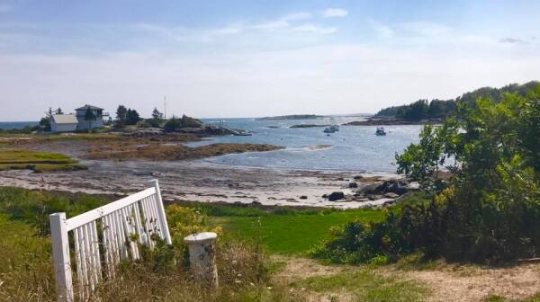 Island view with fence, Photo Credit Amy Gallant