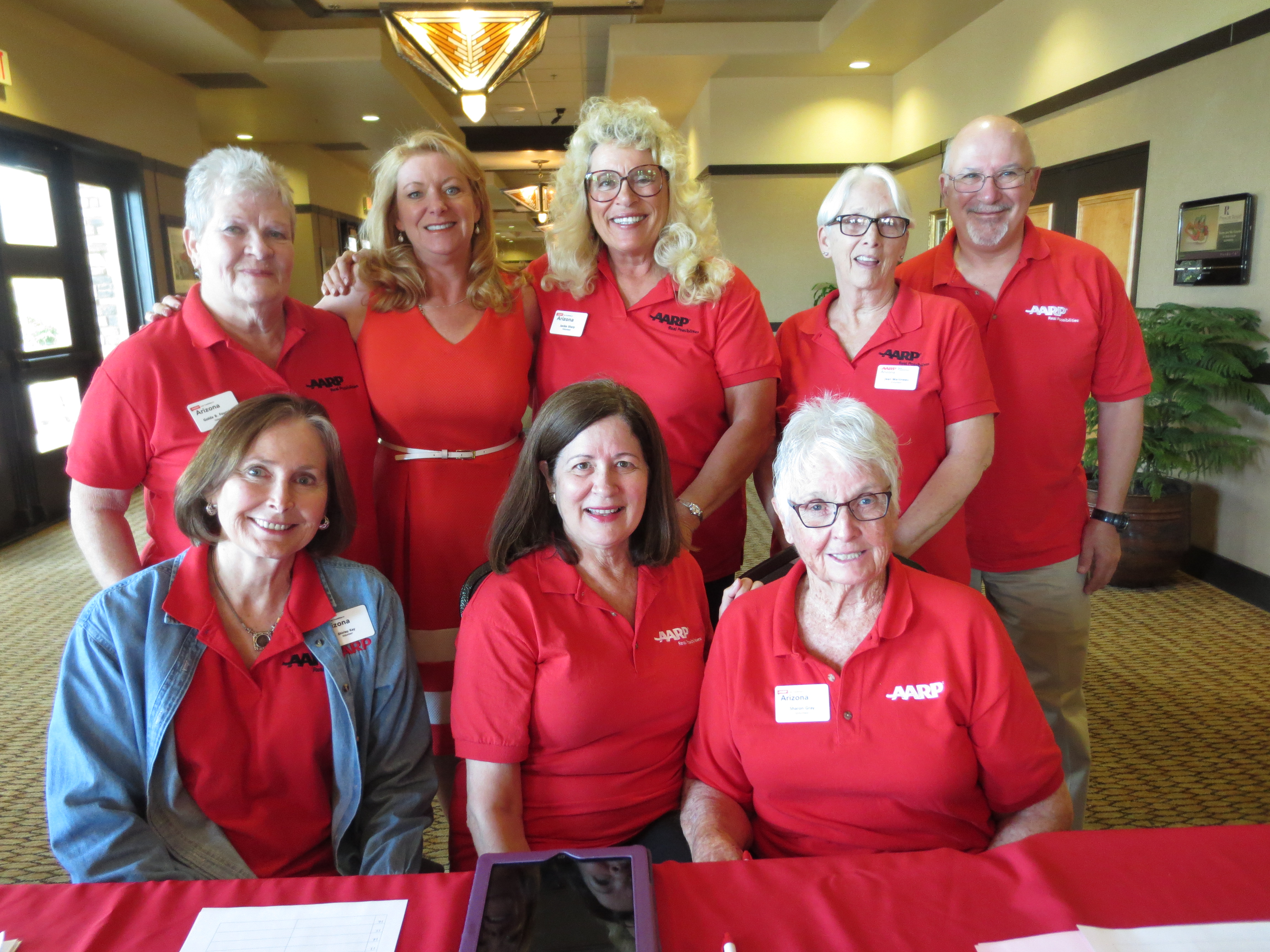 Volunteers at event
