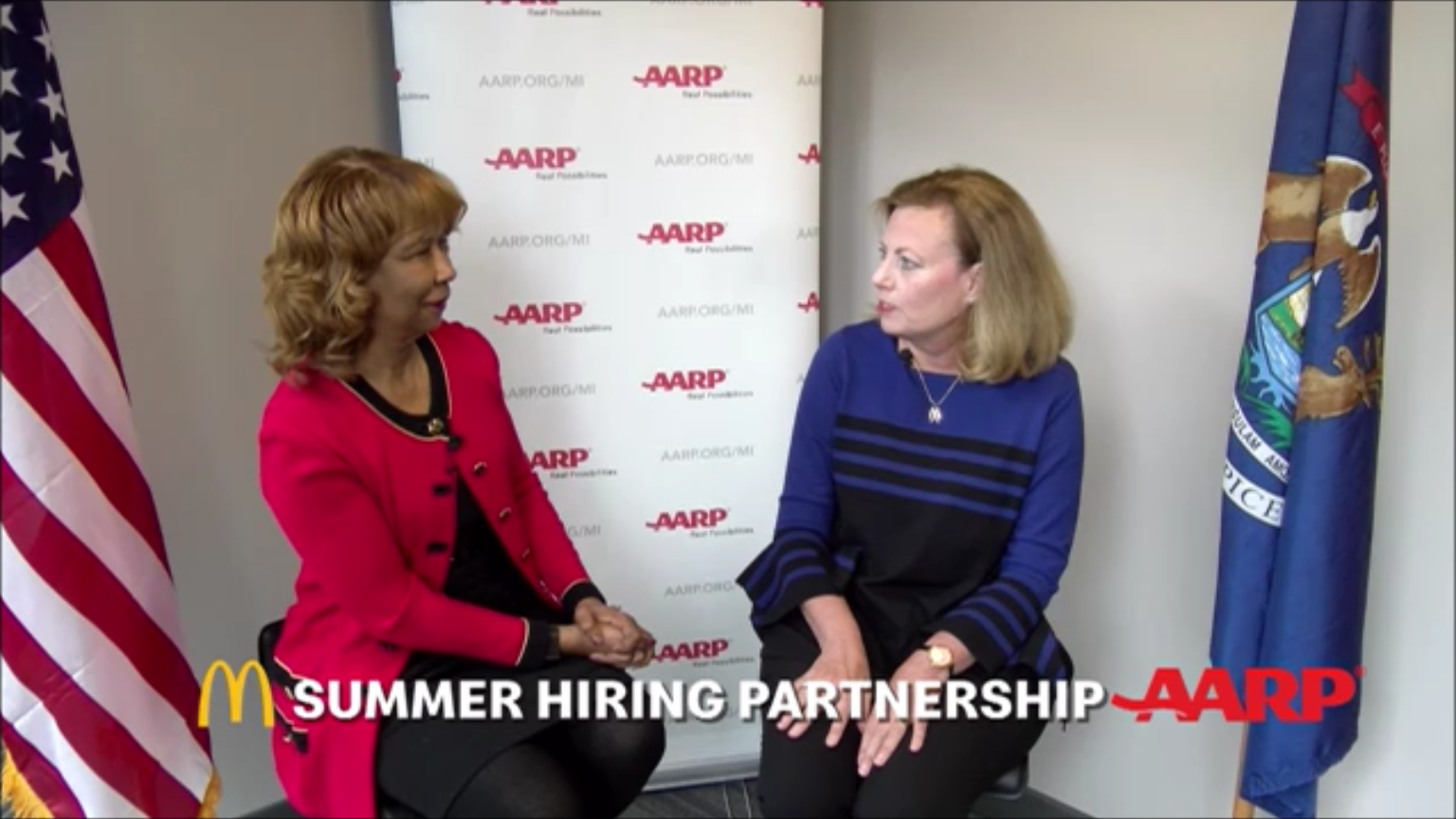 AARP, McDonald's launch summer jobs connection